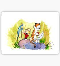 Adventure with Calvin & Hobbes Sticker