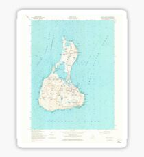 USGS TOPO Map Rhode Island RI Block Island 353243 1957 24000 Sticker