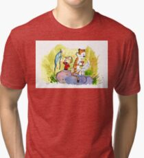 Adventure with Calvin & Hobbes Tri-blend T-Shirt