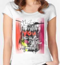 Everything you can imagine is real - quote Women's Fitted Scoop T-Shirt