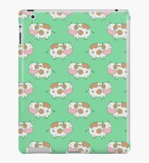 Brown Cow Green Pattern iPad Case/Skin