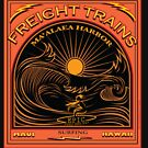 SURFING FREIGHT TRAINS MAUI HAWAII by Larry Butterworth
