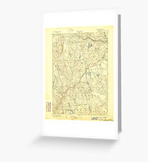 USGS TOPO Map Connecticut CT Gilead 331026 1892 62500 Greeting Card