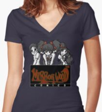 Mirrorwood Comics Women's Fitted V-Neck T-Shirt