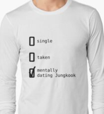 Mentally Dating Jungkook - BTS Long Sleeve T-Shirt