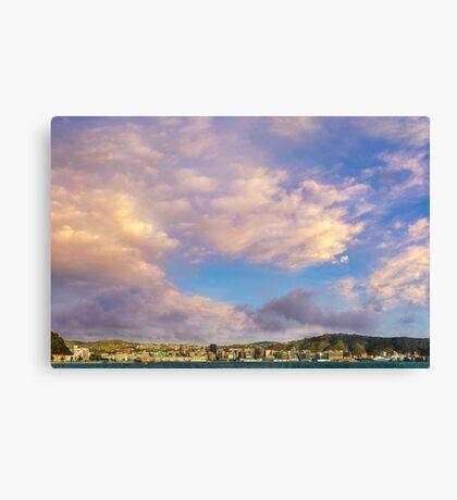 Wellington Under Dramatic Daybreak Skies Canvas Print