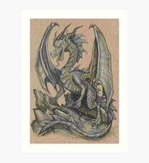 Awesome Dragon Drawing  Art Print