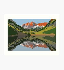Maroon Bells (landscape) Art Print
