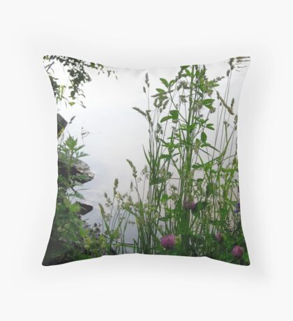 Grass on the banks of the Rideau River, Ottawa 2 Throw Pillow