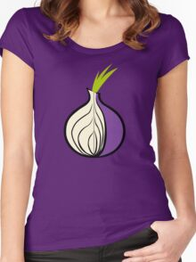 TOR Logo HD Women's Fitted Scoop T-Shirt