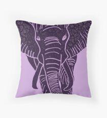 Elephant Purple Throw Pillow
