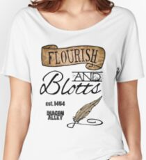 Flourish & Blotts. Women's Relaxed Fit T-Shirt