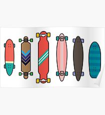 Longboard collection Poster