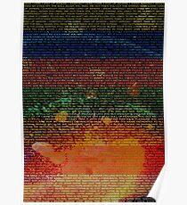 Radiohead - In Rainbows Album Lyrics Design #1 Poster