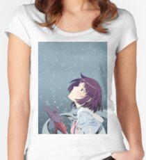 Hitagi Senjougahara Bakemonogatari Women's Fitted Scoop T-Shirt