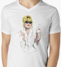 Patsy Stone AbFab Cheers Darling Men's V-Neck T-Shirt