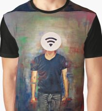 Wifi-Head / 21st Century Identity (What's your wifi password) Graphic T-Shirt