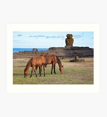 Anekana Beach #2 , Rapa Nui, Chile - March 8th 2016 Art Print