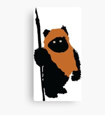 Ewok Bear, Star Wars Canvas Print