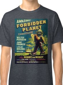 Vintage Sci-fi Movie Forbidden Planet, Robot Classic T-Shirt