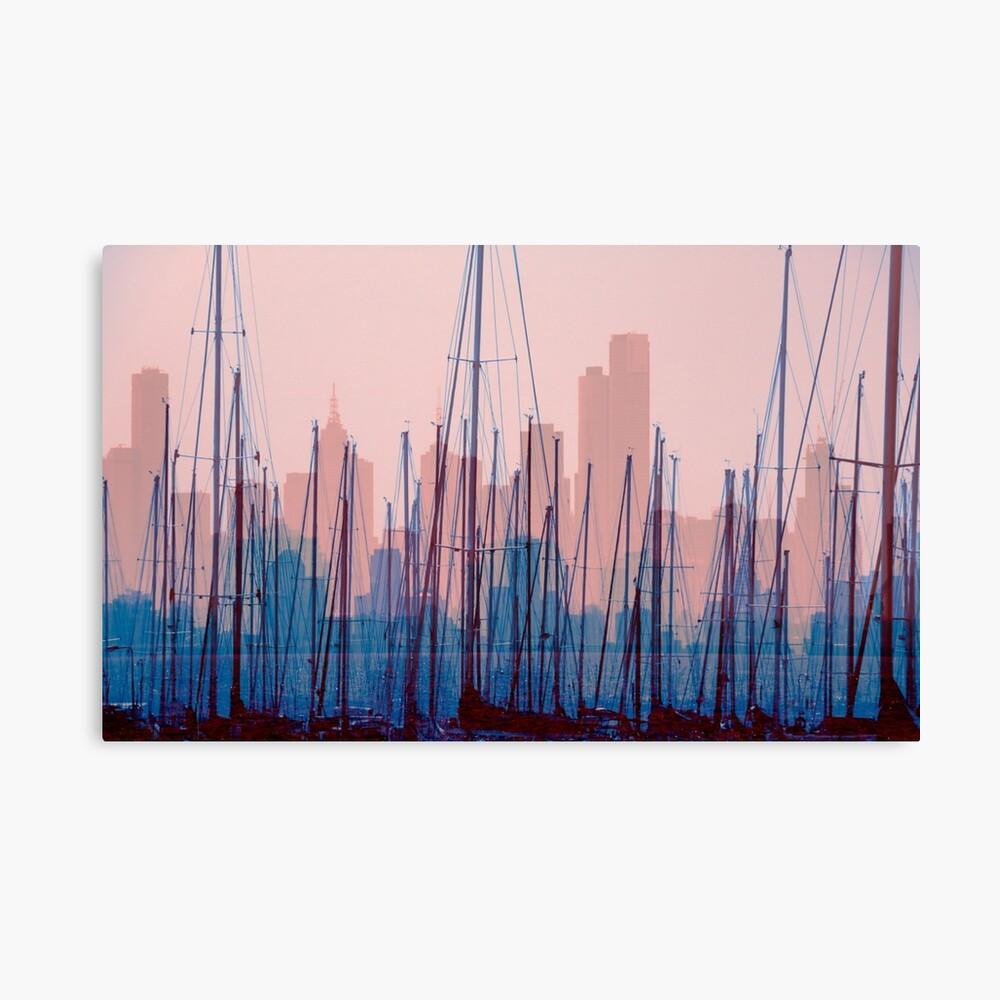 City Harbour Skyline Canvas Print