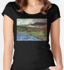 Winter moving in Women's Fitted Scoop T-Shirt