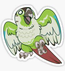 Giddy Green Cheek Conure Sticker