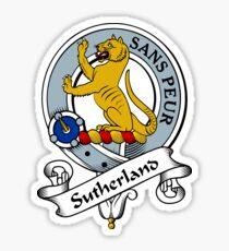 00072 Sutherland Clan/Family Tartan  Sticker