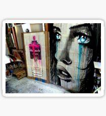 studio wall glimpse Sticker