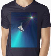Shoot For The Sky - USAF F15D Design Men's V-Neck T-Shirt