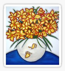 """Mazzo di Narccisi"" Bouquet Of Daffodils Sticker"