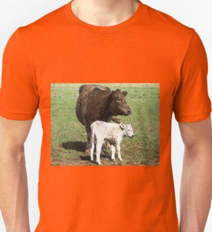 Mother & son  (3 hrs. old) - Murray Grey Cattle,Koroit,Vic. Australia T-Shirt