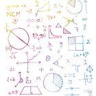 Math formulae (white) by funmaths