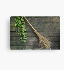 Witches broomstick Canvas Print