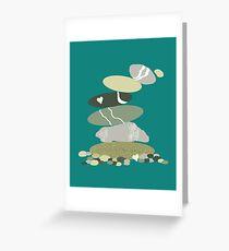 Falling pebble stack Greeting Card
