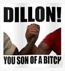 Predator Dillon You Son Of A Bitch Poster