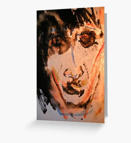 blinded by sorrow.... Greeting Card