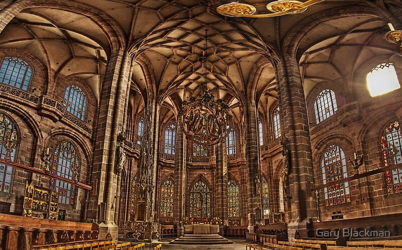 st lorenz church st lorenz kirche nuremberg interior canvas prints by gary blackman redbubble. Black Bedroom Furniture Sets. Home Design Ideas