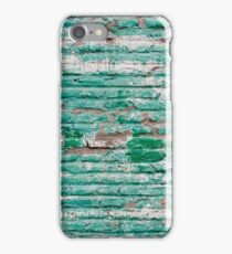 Green brick wall painted in the past iPhone Case/Skin