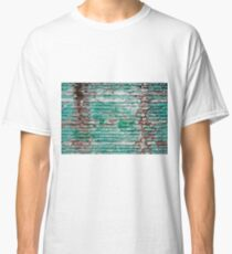 Green brick wall painted in the past Classic T-Shirt