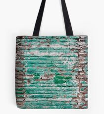 Green brick wall painted in the past Tote Bag