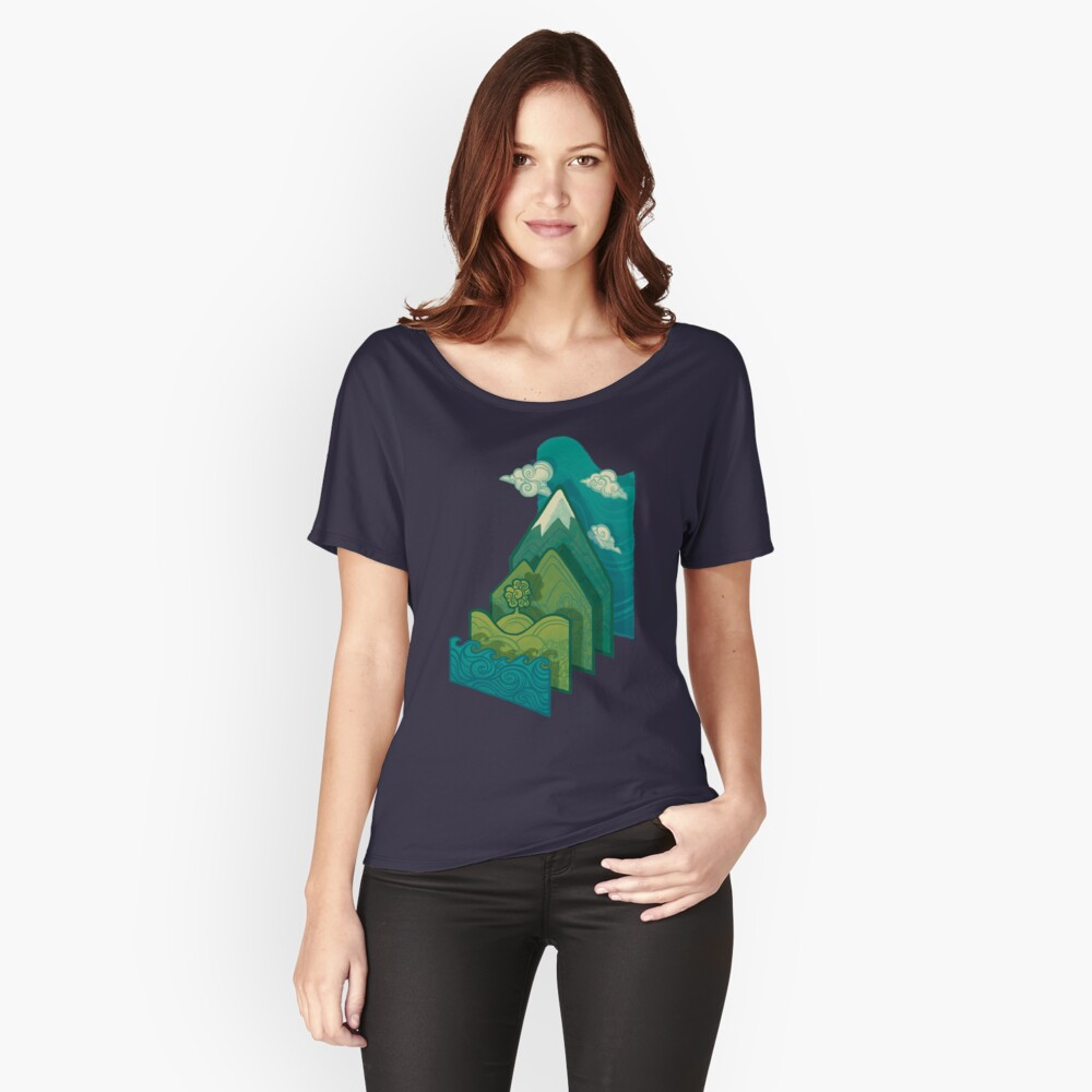 How to Build a Landscape Women's Relaxed Fit T-Shirt Front