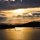 Sunset at Lake Conjola  by Candy Jubb