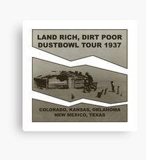 Dustbowl Tour 1937 Canvas Print