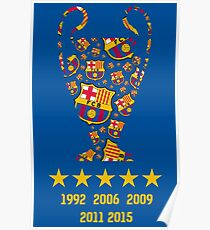 FC Barcelona - Champion League Winners Poster