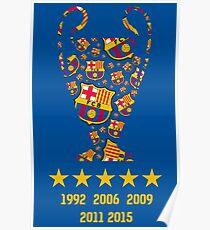 FC Barcelona - Champion League Winners Poster