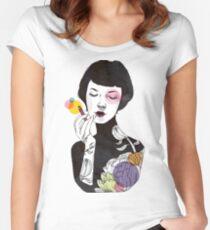 Camiseta entallada de cuello ancho ¡Ponte un poco de color! (versión 2)