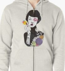 Put on Some Colour! (version 2) Zipped Hoodie