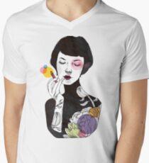 Camiseta para hombre de cuello en v ¡Ponte un poco de color! (versión 2)