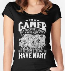 Dota 2 Shirts: I am a (DOTA) gamer. Not because I don't have a life, but because I choose to have many! Women's Fitted Scoop T-Shirt